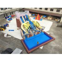 China Industrial Commercial Grade Dragon Big Inflatable Water Slides 15*11*8m Customized on sale