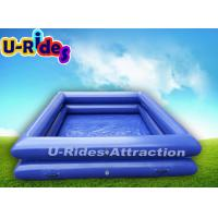 Buy cheap Inflatable Backyard Swimming Pools With Double Tube / Inflatable Family Swimming from wholesalers