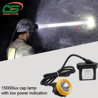 Quality Safety 1w Led Mining Cap Lamp Rechargeable 15000lux High Brightness for sale