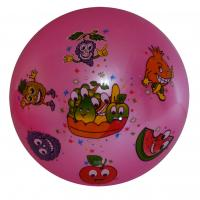 multi color printed inflatable PVC ball toys pink ground angry fruits