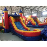 Wholesale Backyard Large Inflatable Bounce House With Slide 0.6 + 0.9mm PVC Tarpaulin from china suppliers