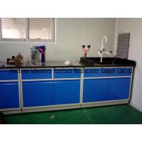 Wholesale Blue Color All Steel Lab Furniture Table With Sink PP Pegboard / Adjustable Feet from china suppliers