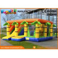 Wholesale durable Inflatable Amusement Park Climbing Wall Jungle Bouncer With Slide 6.8 * 7.2 m from china suppliers