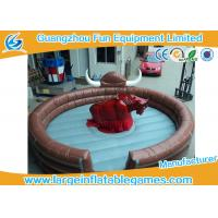 Wholesale Funny Large Inflatable Games Inflatable Mechanical Bull Riding Machine Games With Digital Printing from china suppliers