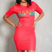 Wholesale Women Cheap Sexy Coral Graphic Print Bodycon T-Shirt Dress On Sale from china suppliers