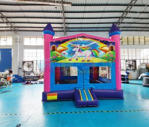 Wholesale Double Stitching Inflatable Bounce Houses Unicorn Bouncy Castle from china suppliers