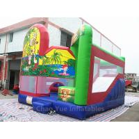 Wholesale Commercial Grade 0.55mm PVC Tarpaulin Jungle Inflatable Jumping Castle with Slide for kids from china suppliers