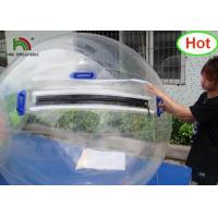 Wholesale 2m Dia PVC Inflatable Water Ball / Customized Japan Zipper Clear Water Walking Ball from china suppliers