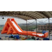 Buy cheap 56m Hippo Inflatable water slide with swimming pool wet/dry use in ourdoor from wholesalers