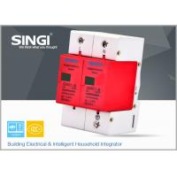 Wholesale Solar / DC lightning protection Surge Protector Device with 2 pole red frame from china suppliers