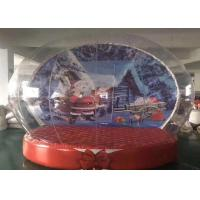 China PVC Outdoor Christmas Inflatables , Snow Globe Giant Christmas Inflatables on sale