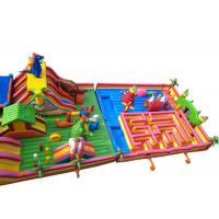 Wholesale Giant Outdoor Children Fun City Inflatables Jurassic Park Bouncer Combo Maze With Slide from china suppliers