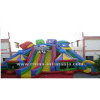 Wholesale colourful giant inflatable with slide from china suppliers
