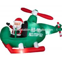 Custom made inflatable Christmas Santa Claus , sit on plane for kids