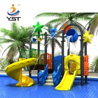 China 2.5 Mm Thickness Commercial Water Slides For Water Park Powder Coated on sale