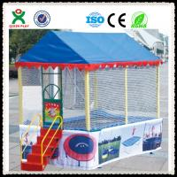 Wholesale Kids Outdoor Cheap Trampoline Price / Cheap Children Trampoline With Tent Cover QX-117F from china suppliers