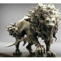 Wholesale Yard Ornaments Fiberglass Animal Sculptures Abstract Roaring Lion Sculpture from china suppliers