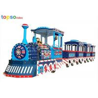 British style 24 Seat Trackless Train Shopping Center Electric Sightseeing Train