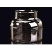 Wholesale Machine Decorative Glass Candle Holder , Brown Smoking Grey Glass Candle Jars Container from china suppliers