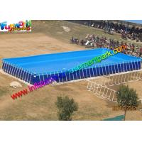 Wholesale Summer Rectangular PVC Water Inflatable Swimming Pools with Metal Frame from china suppliers