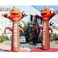 Wholesale Advertising Inflatable Pumpkin Column for Halloween Banner Show from china suppliers