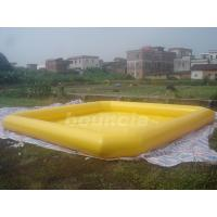 Wholesale Yellow Color Outdoor Inflatable Water Pool With Reinforcement Strips from china suppliers