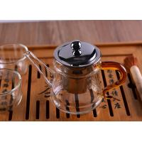 Wholesale Pyrex Microwave Heating Glass Tableware Teapots with Stainless Steel Infuser & Lid from china suppliers