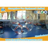 China Orange String TPU Human Sized Bubble Ball Inflatable Football Games For Adult on sale