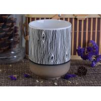 Wholesale Metal Color Bottom Wood Grain Glazing Ceramic Candle Holder For Planting , Decoration from china suppliers