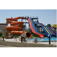 Wholesale Commercial Huge Toddler Water Slide , Custom Pool Water Slides 4 Lines 6 - 8mm,TUV combination fiberglass water slide from china suppliers