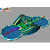 China Adults Giant Inflatable Water Parks Funny Customized With Pool Slide on sale