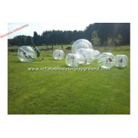 Wholesale Clear TPU Human Inflatable Bumper Bubble Ball Soccer Rental With Soft Handle from china suppliers