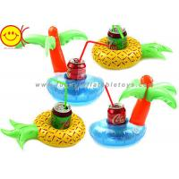 Quality Swimming Pool Party Inflatable Drink Holder Fruits Flamingo Mini Cup Drink Holder for sale