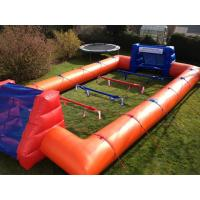 Wholesale Big Inflatable Sport Games Human Football Court 0.55mm Pvc Material With Blower from china suppliers