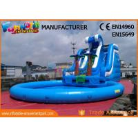 Wholesale Waterslides Giant Blue Outdoor Inflatable Water Slides For Amusement Park from china suppliers