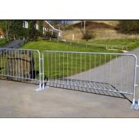 China Silver Color Temporary Security Fence Panels , Portable Crowd Control Barriers on sale