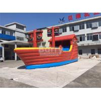 Wholesale Playful Giant Pirate Ship Inflatable Bouncer Castle Combo With Slide from china suppliers