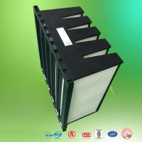 Wholesale Clean Room Fiberglass Air Filters Merv10 Plastic Frame V Cell Air Filter from china suppliers