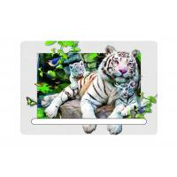 Wholesale 5D Attractive White Tiger Decorative Refrigerator Magnets 0.6mm PET + 200g Coated Paper from china suppliers