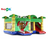 China Customized School Crocodile Inflatable Bouncy Castle With Blower on sale