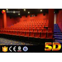 100 Seats Electric System 4d Motion Theatre Seat With Rain Bubble Snow Wind Fire for sale