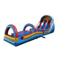 Quality 0.9mm PVC Tarpaulin Inflatable Water Slip And Slide 14.6x3.7x6.1m for sale