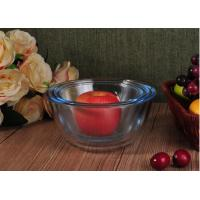 Wholesale Transparent Heat Resistant Glass Salad Bowls Glass Oven Bowls with 6 Different Sizes from china suppliers