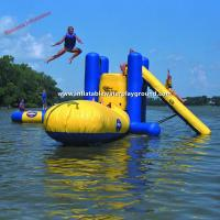 China Outdoor Large Inflatable Water Toys With Climb , Slide And Launch Bag on sale