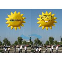 Wholesale Smile Sun Flying Custom Inflatable Balloons Air Advertising With 5M Tether Line from china suppliers