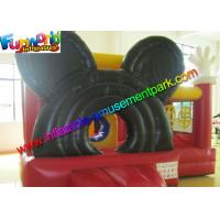 Mickey Mouse Inflatable Bounce Houses , Small Jumping Castle With Repair Kit