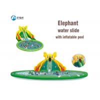 China Giant Commercial Inflatable Slide Elephant Water Slides With Water Pool on sale