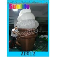 Wholesale Custom Inflatable Advertising Products / Inflatable Ice Cream For Playing Center from china suppliers