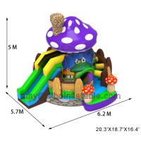 Sibo Inflatable New Products Mushroom Bouncer Castle With Slide Backyard Activity Equipment