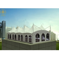 Buy cheap Restaurant Structure 3000N PVDF Tensile Roof Canopy from wholesalers